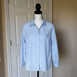 Charter Club relaxed fit button down shirt sz 12P